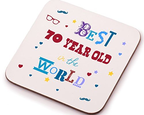 Best 70 Year Old Coaster 70th Birthday Present Gift Idea Perfect For Him Her Mum Or Dad